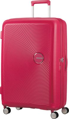 American Tourister Curio 29 inch Hardside Checked Spinner Luggage Pink - American Tourister Hardside Checked