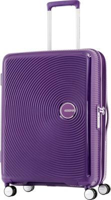 American Tourister Curio 29 inch Hardside Checked Spinner Luggage Purple - American Tourister Hardside Checked