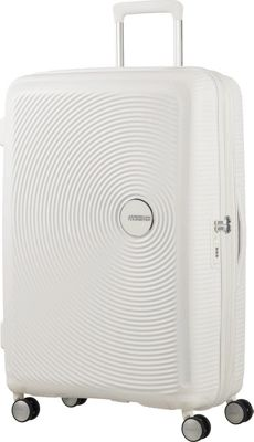 American Tourister Curio 29 inch Hardside Checked Spinner Luggage White - American Tourister Hardside Checked