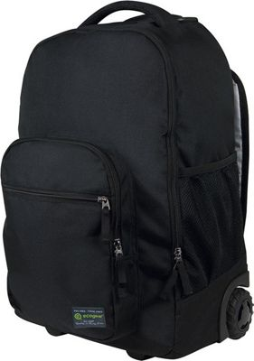 ecogear Dhole Laptop Rolling Backpack Black - ecogear Wheeled Backpacks