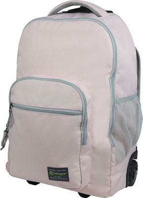 ecogear Dhole Laptop Rolling Backpack Blush Pink - ecogear Wheeled Backpacks