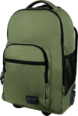 ecogear Dhole Laptop Rolling Backpack Olive Green - ecogear Wheeled Backpacks