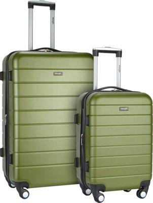 Wrangler 3-N-1 2 Piece Hardside Spinner Luggage Set Olive - Wrangler Luggage Sets