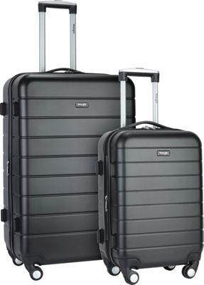 Wrangler 3-N-1 2 Piece Hardside Spinner Luggage Set Black - Wrangler Luggage Sets