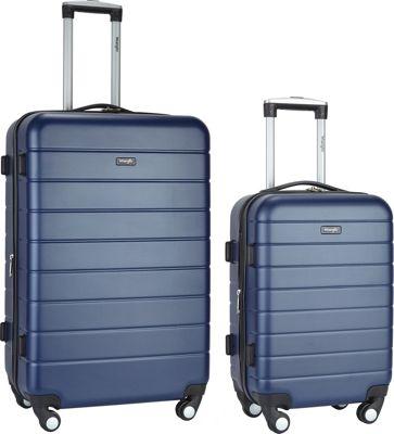 Wrangler 3-N-1 2 Piece Hardside Spinner Luggage Set Navy - Wrangler Luggage Sets