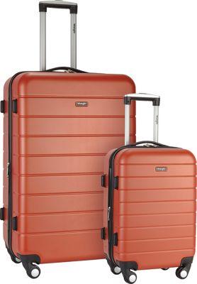 Wrangler 3-N-1 2 Piece Hardside Spinner Luggage Set Burnt Orange - Wrangler Luggage Sets