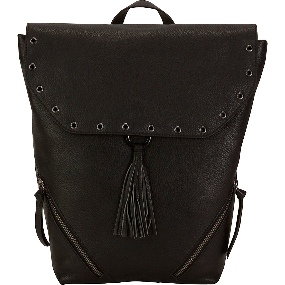 Hadaki Urban Grommet Backpack Black/Black - Hadaki Leather Handbags - Handbags, Leather Handbags