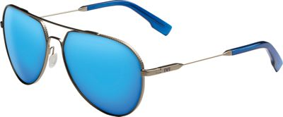 IVI Blake Sunglasses Antique Brass - Matte Midway Blue - IVI Eyewear