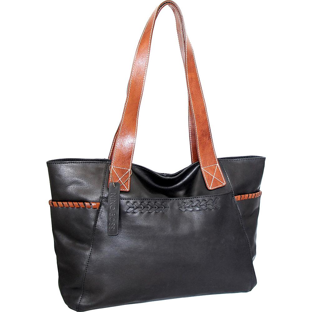 Nino Bossi Destiny Tote Black - Nino Bossi Leather Handbags - Handbags, Leather Handbags