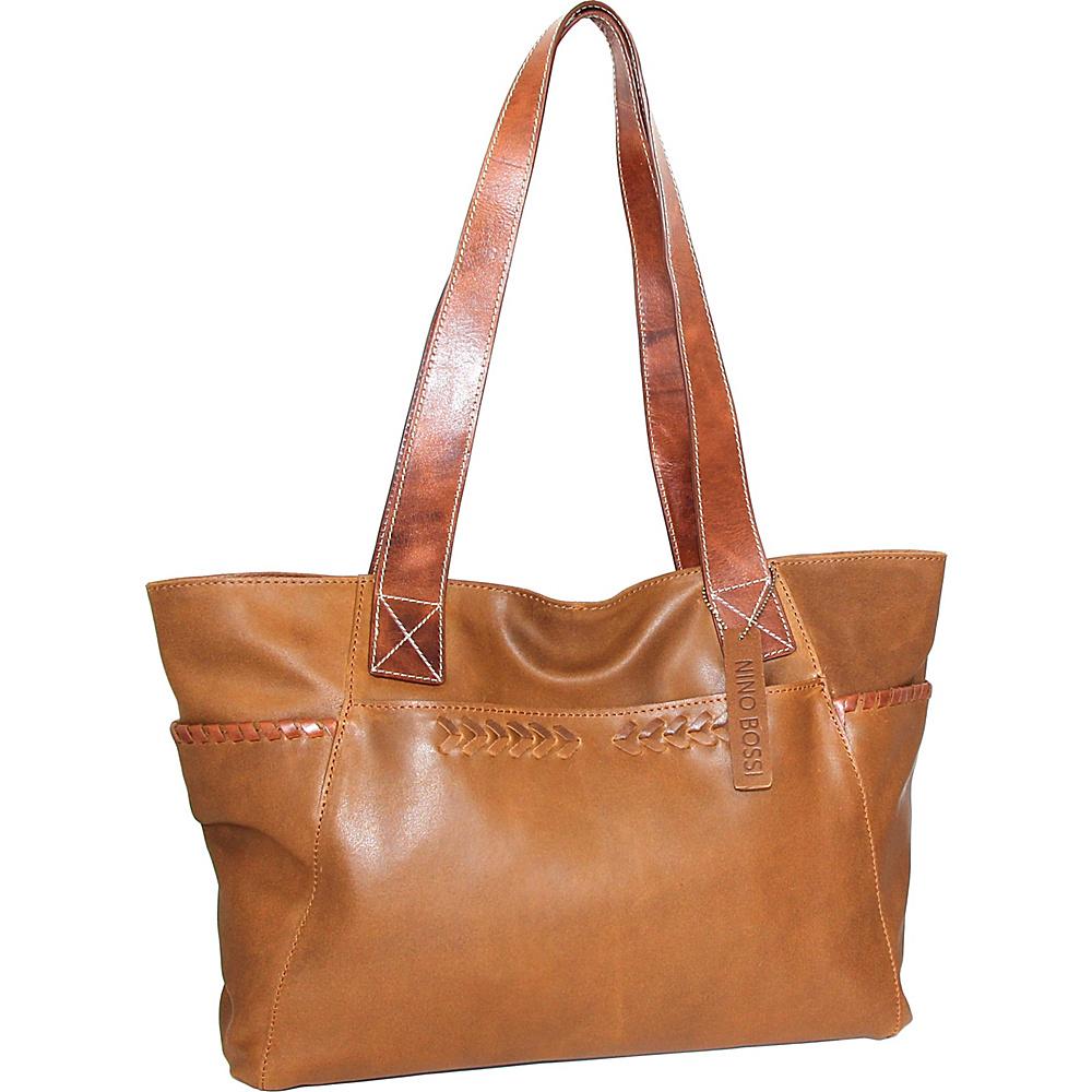 Nino Bossi Destiny Tote Saddle - Nino Bossi Leather Handbags - Handbags, Leather Handbags