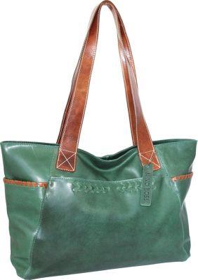 Nino Bossi Destiny Tote Green - Nino Bossi Leather Handbags