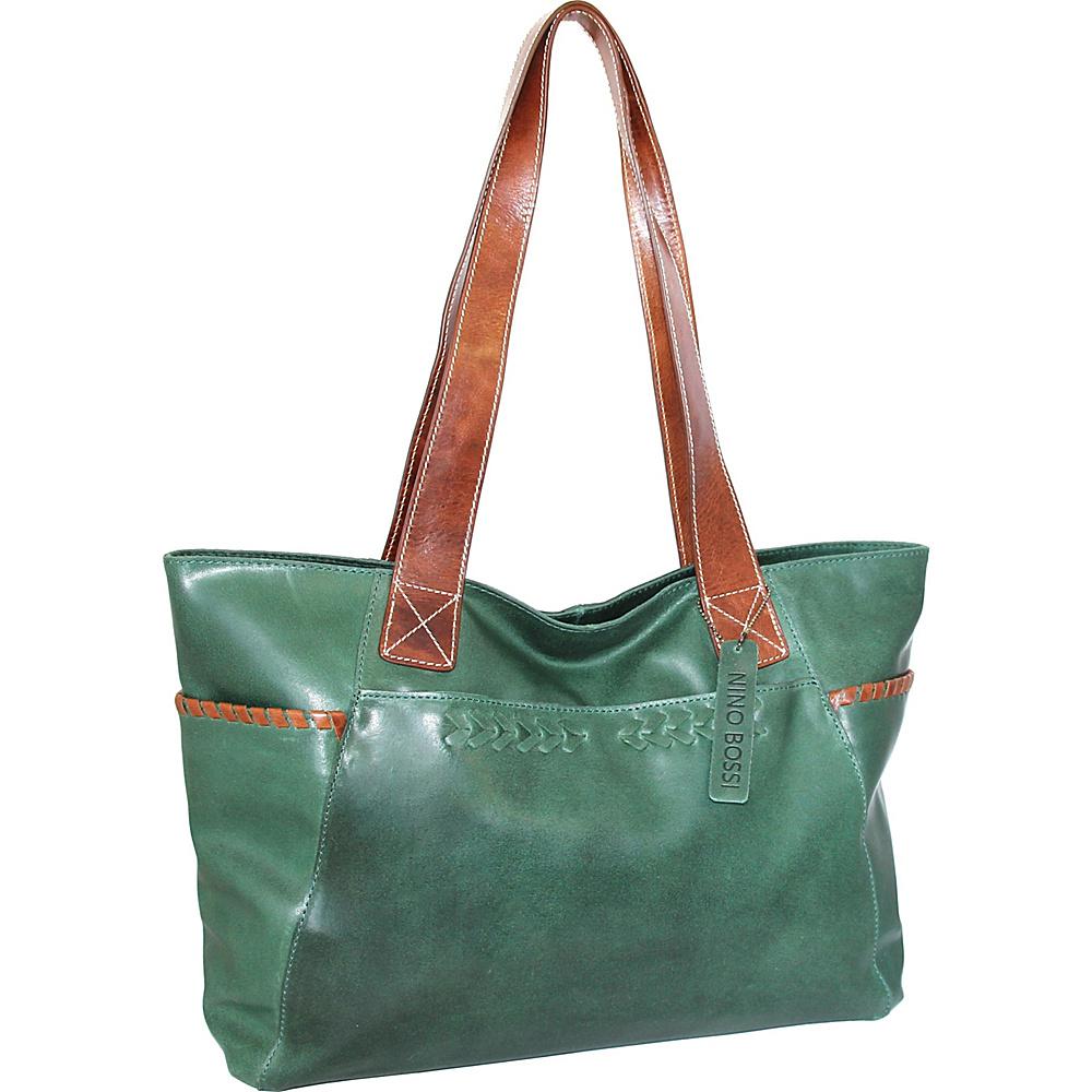 Nino Bossi Destiny Tote Green - Nino Bossi Leather Handbags - Handbags, Leather Handbags