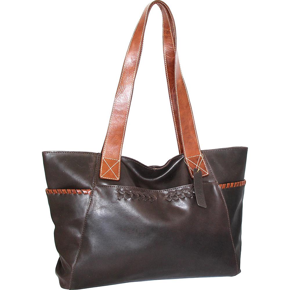Nino Bossi Destiny Tote Chocolate - Nino Bossi Leather Handbags - Handbags, Leather Handbags