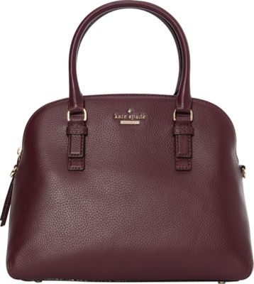 kate spade new york Jackson Street Lottie Satchel Plum - kate spade new york Designer Handbags