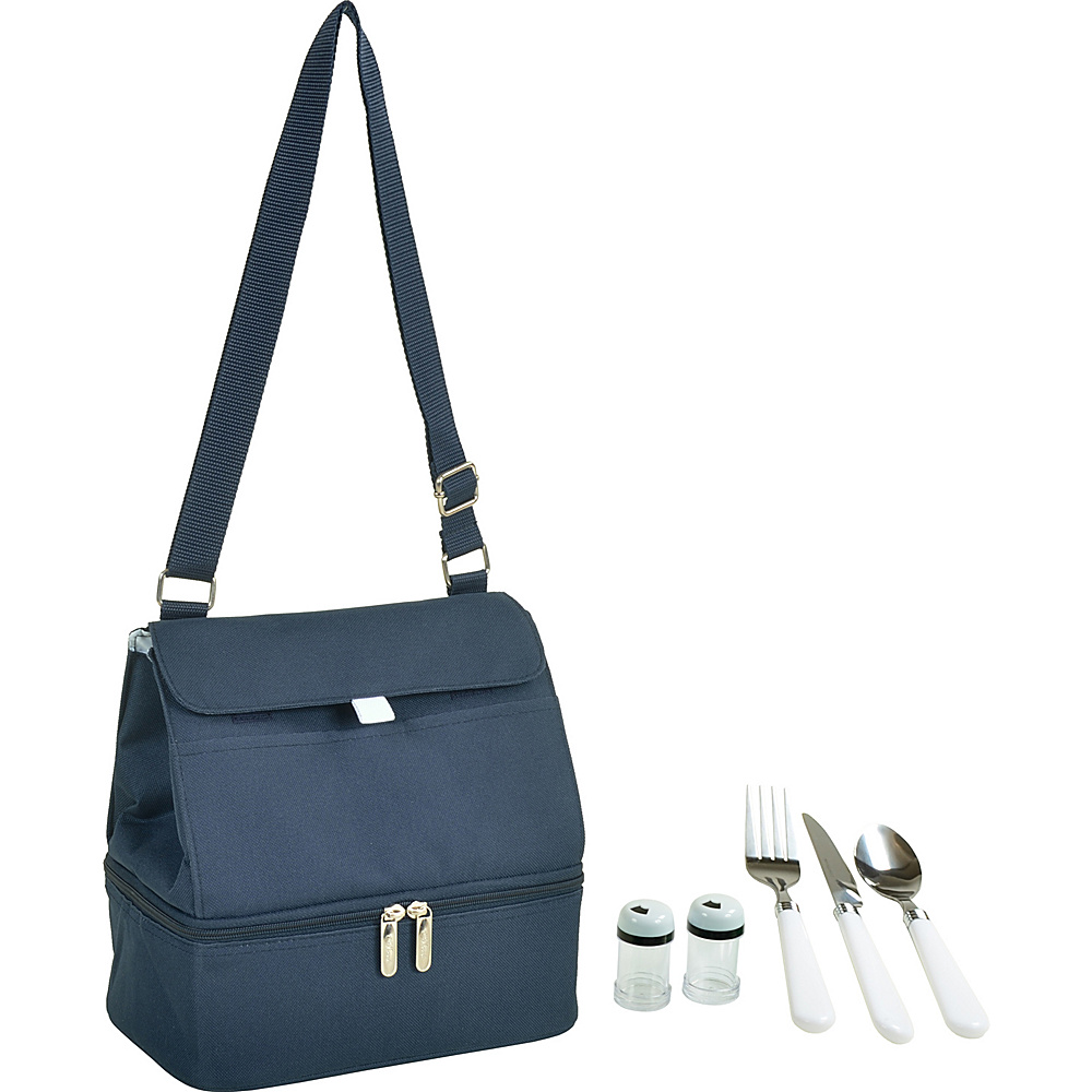 Picnic at Ascot Insulated Lunch Bag with Service for One Navy - Picnic at Ascot Travel Coolers - Travel Accessories, Travel Coolers