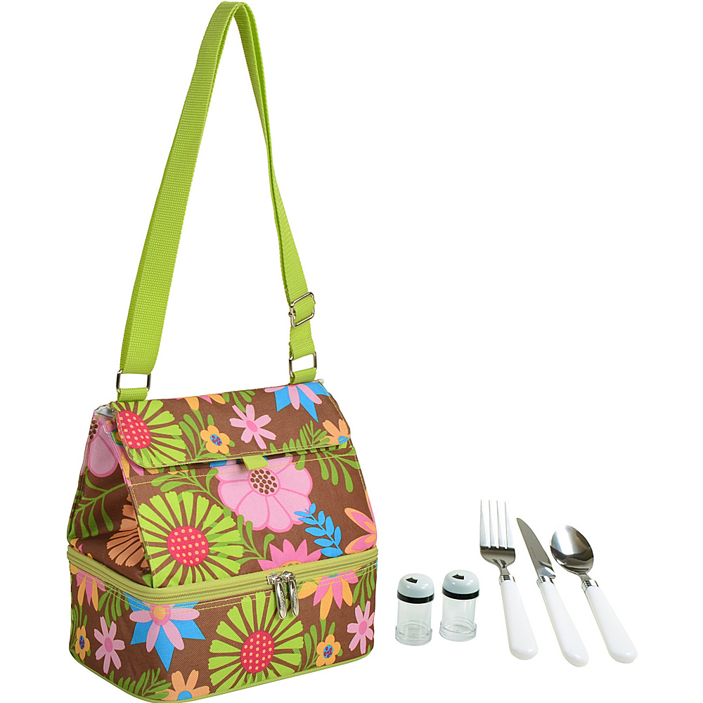 Picnic at Ascot Insulated Lunch Bag with Service for One Floral - Picnic at Ascot Travel Coolers - Travel Accessories, Travel Coolers