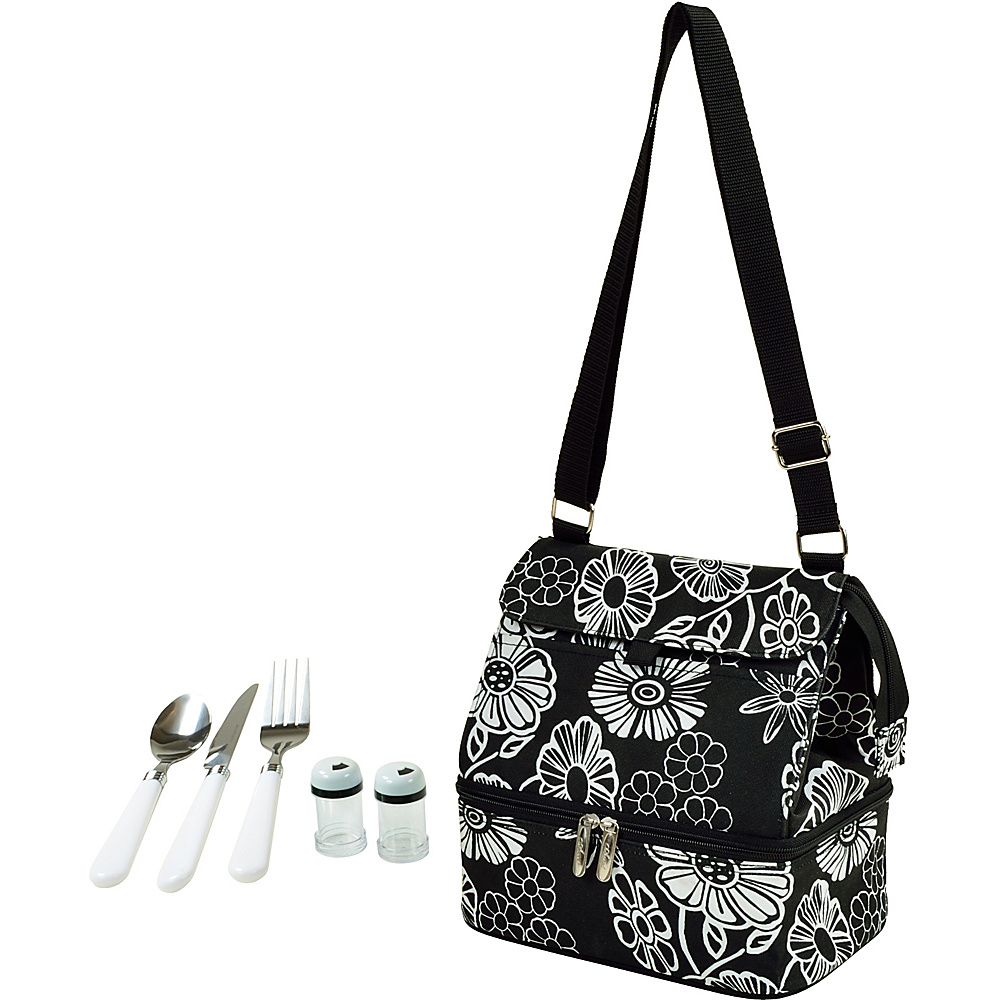 Picnic at Ascot Insulated Lunch Bag with Service for One Night Bloom - Picnic at Ascot Travel Coolers - Travel Accessories, Travel Coolers