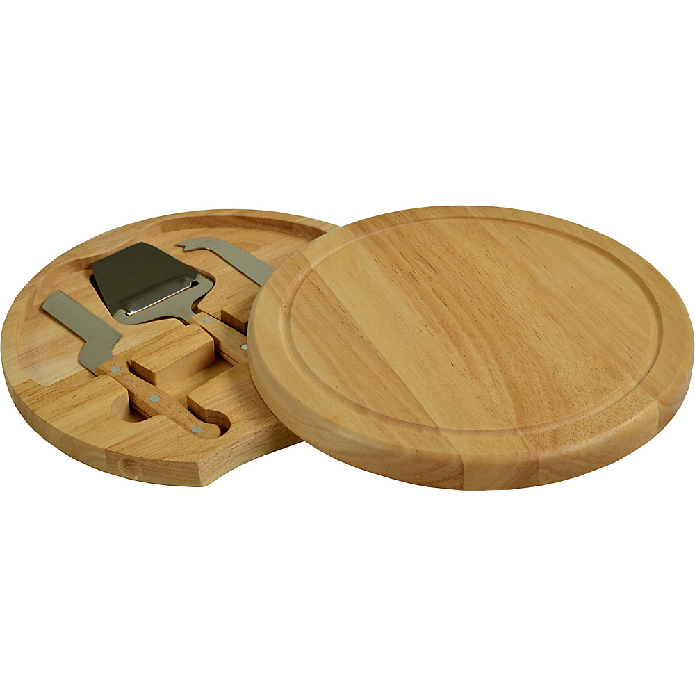Picnic at Ascot Yorkshire Hardwood Cheese Board Set Natural - Picnic at Ascot Outdoor Accessories - Outdoor, Outdoor Accessories