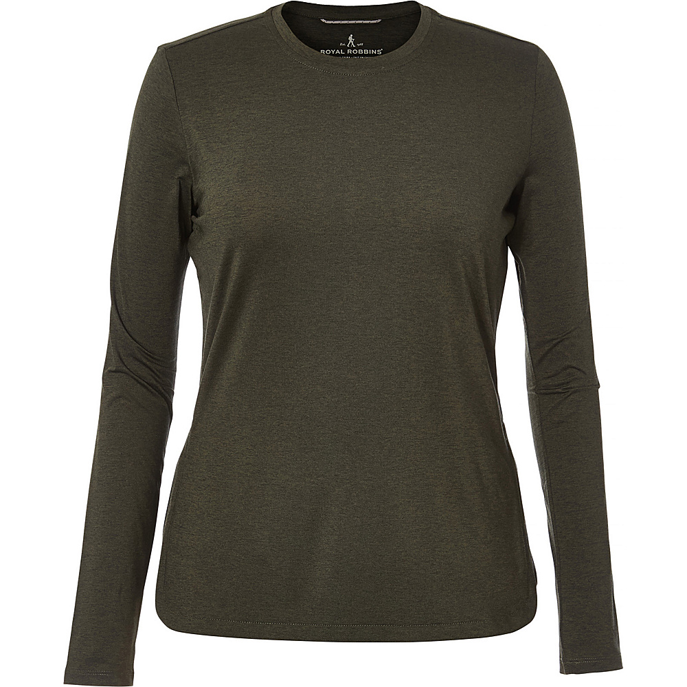Royal Robbins Womens Long Distance Long Sleeve XS - Climbing Ivy - Royal Robbins Womens Apparel - Apparel & Footwear, Women's Apparel