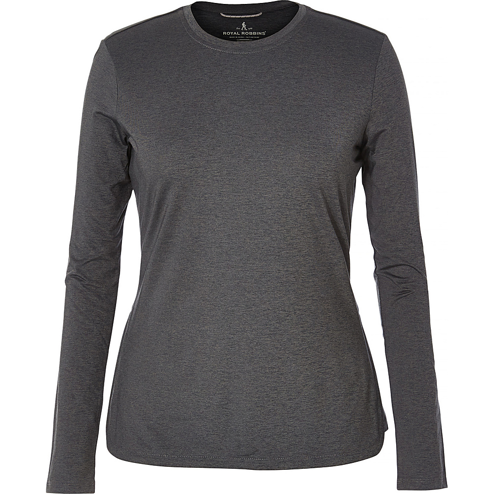 Royal Robbins Womens Long Distance Long Sleeve XS - Obsidian - Royal Robbins Womens Apparel - Apparel & Footwear, Women's Apparel