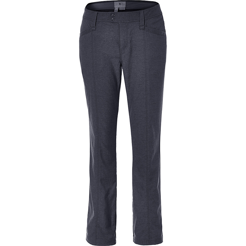 Royal Robbins Womens Herringbone Discovery Strider Pant 20 - 34in - Charcoal - Royal Robbins Womens Apparel - Apparel & Footwear, Women's Apparel