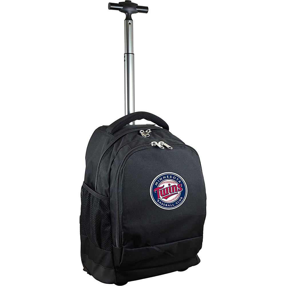 MOJO Denco MLB Premium Laptop Rolling Backpack Minnesota Twins - MOJO Denco Rolling Backpacks - Backpacks, Rolling Backpacks