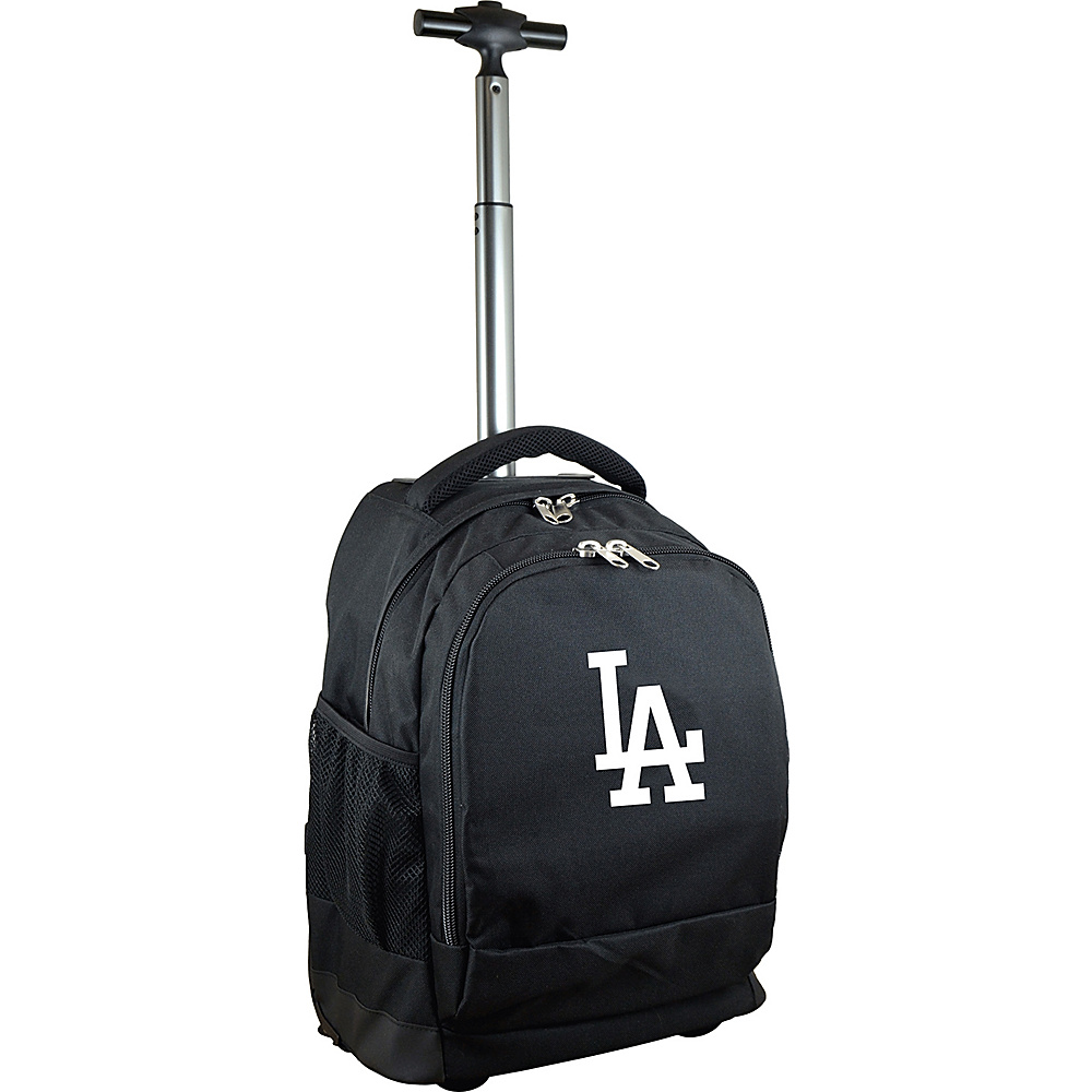 MOJO Denco MLB Premium Laptop Rolling Backpack Los Angeles Dodgers - MOJO Denco Rolling Backpacks - Backpacks, Rolling Backpacks