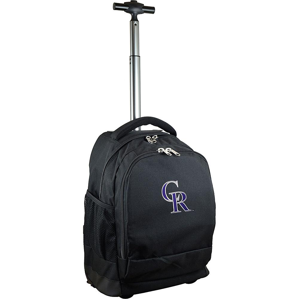 MOJO Denco MLB Premium Laptop Rolling Backpack Colorado Rockies - MOJO Denco Rolling Backpacks - Backpacks, Rolling Backpacks