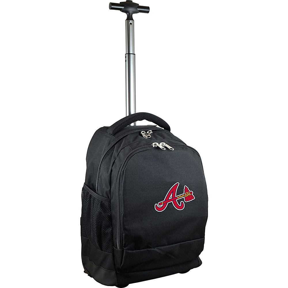 MOJO Denco MLB Premium Laptop Rolling Backpack Atlanta Braves - MOJO Denco Rolling Backpacks - Backpacks, Rolling Backpacks