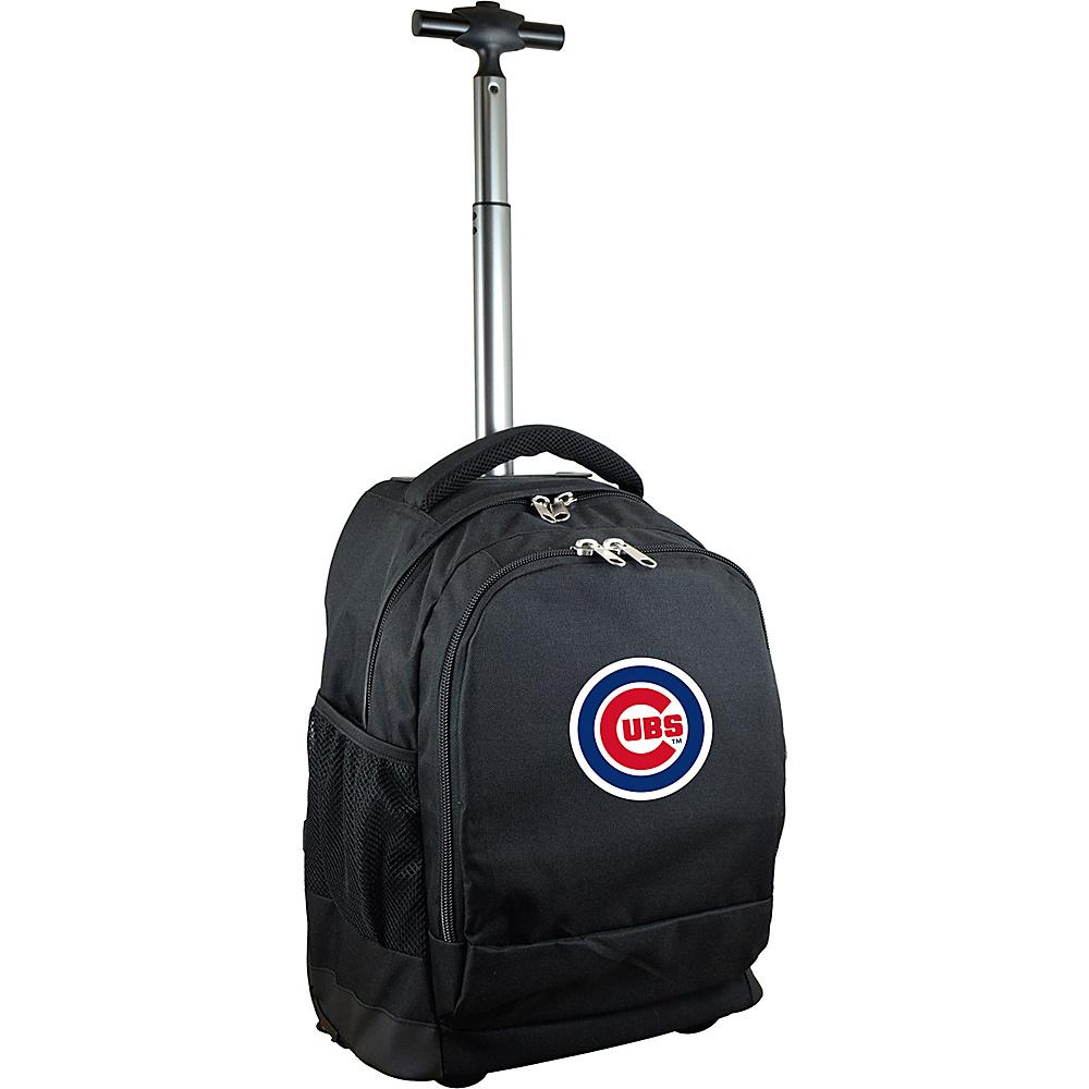 MOJO Denco MLB Premium Laptop Rolling Backpack Chicago Cubs - MOJO Denco Rolling Backpacks - Backpacks, Rolling Backpacks