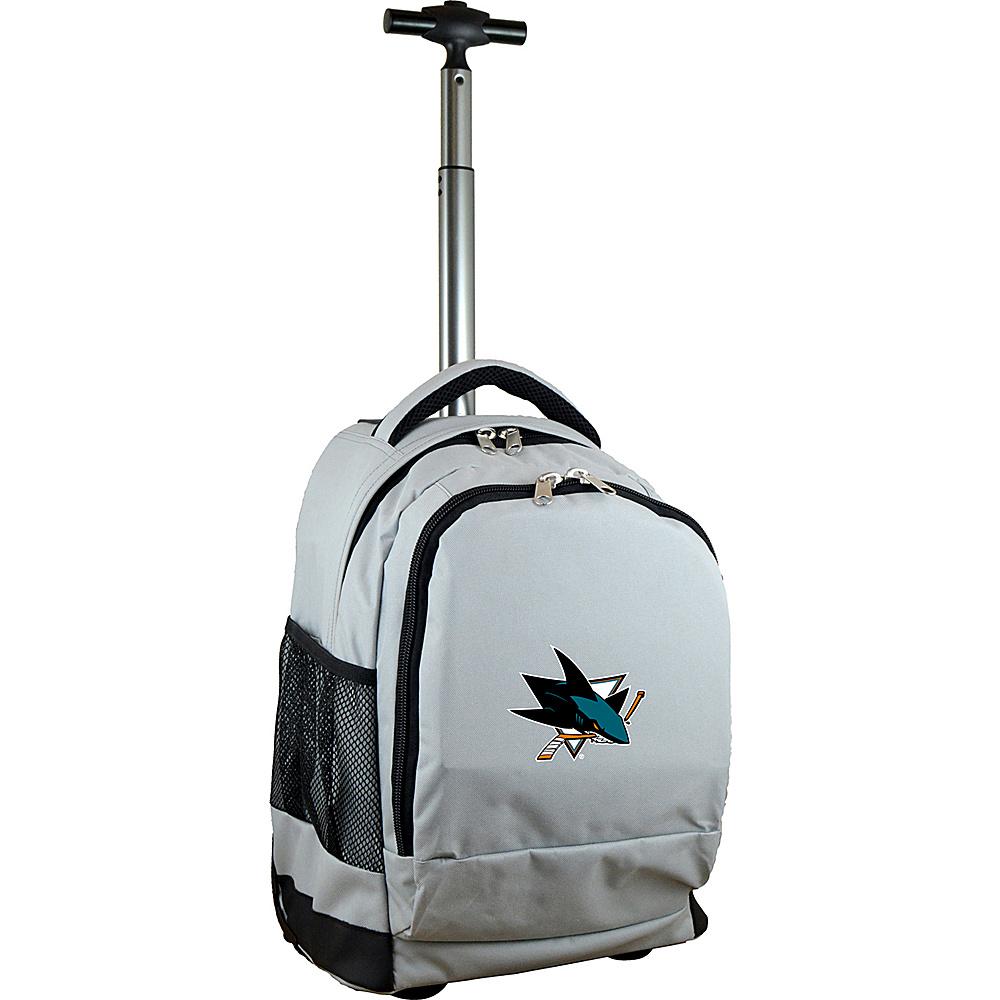 Mojo Licensing NHL Premium Laptop Rolling Backpack San Jose Sharks - Mojo Licensing Rolling Backpacks - Backpacks, Rolling Backpacks