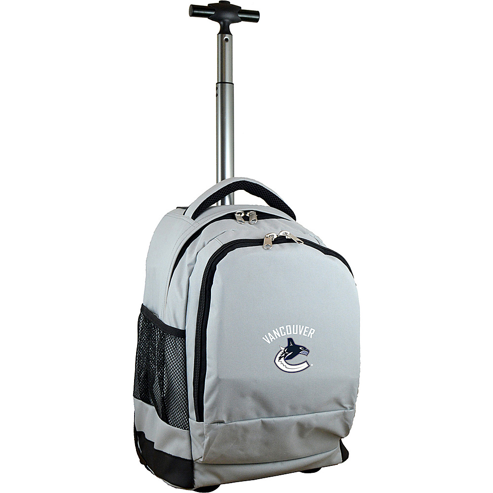 Mojo Licensing NHL Premium Laptop Rolling Backpack Vancouver Canucks - Mojo Licensing Rolling Backpacks - Backpacks, Rolling Backpacks