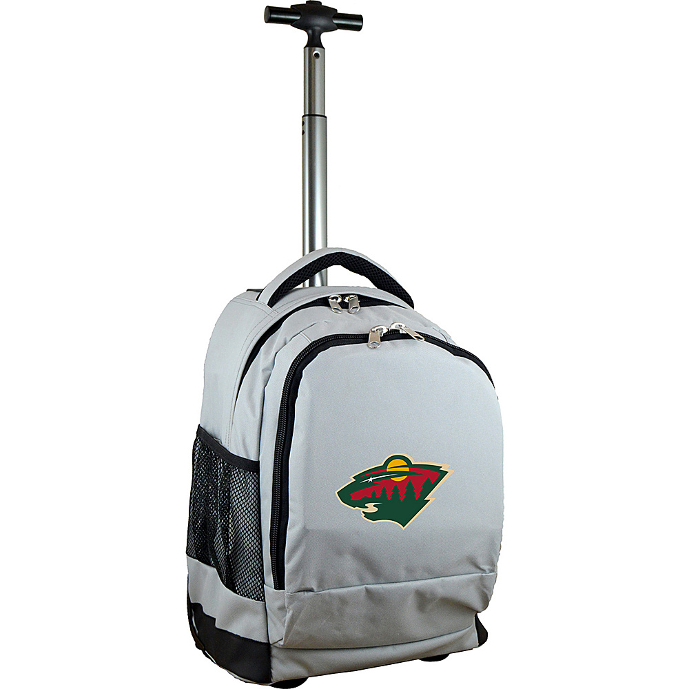 MOJO Denco NHL Premium Laptop Rolling Backpack Minnesota Wild - MOJO Denco Rolling Backpacks - Backpacks, Rolling Backpacks