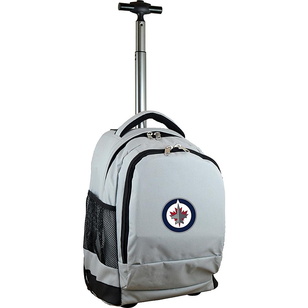 Mojo Licensing NHL Premium Laptop Rolling Backpack Winnipeg Jets - Mojo Licensing Rolling Backpacks - Backpacks, Rolling Backpacks