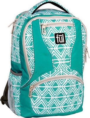 ful Mission Diamond Tribal Laptop Backpack Teal - ful Business & Laptop Backpacks