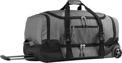 Wrangler 30 inch 2-Section Drop Bottom Rolling Duffel Gray - Wrangler Travel Duffels
