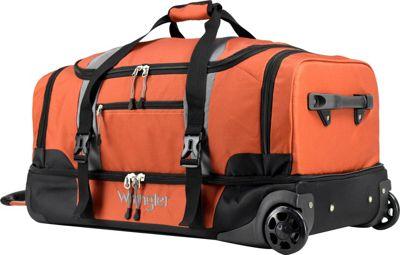 Wrangler 30 inch 2-Section Drop Bottom Rolling Duffel Burnt Orange - Wrangler Travel Duffels