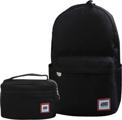 Image of AfterGen Anti-Bully Backpack& Lunch Bag 2 Piece Set Classic Black - AfterGen School & Day Hiking Backpacks