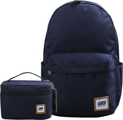 Image of AfterGen Anti-Bully Backpack& Lunch Bag 2 Piece Set Classic Blue - AfterGen School & Day Hiking Backpacks
