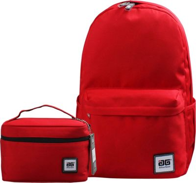 Image of AfterGen Anti-Bully Backpack& Lunch Bag 2 Piece Set Classic Red - AfterGen School & Day Hiking Backpacks