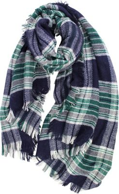 Quagga Green Plaid For You Square Scarf One Size  - Indigo - Quagga Green Hats/Gloves/Scarves