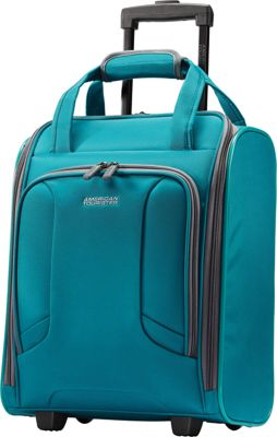 "Image of American Tourister 4 Kix 16"" Rolling Carry-On Tote Teal - American Tourister Softside Carry-On"