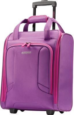 "Image of American Tourister 4 Kix 16"" Rolling Carry-On Tote Purple/Pink - American Tourister Softside Carry-On"
