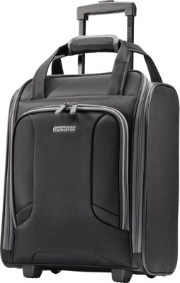 "Image of American Tourister 4 Kix 16"" Rolling Carry-On Tote Black/Grey - American Tourister Softside Carry-On"