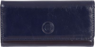 Club Rochelier Clutch Wallet with Checkbook and Gusset Navy - Club Rochelier Women's Wallets