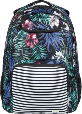 Roxy Shadow Swell 24L Medium Laptop Backpack Anthracite Swim Belharra Flower - Roxy Laptop Backpacks
