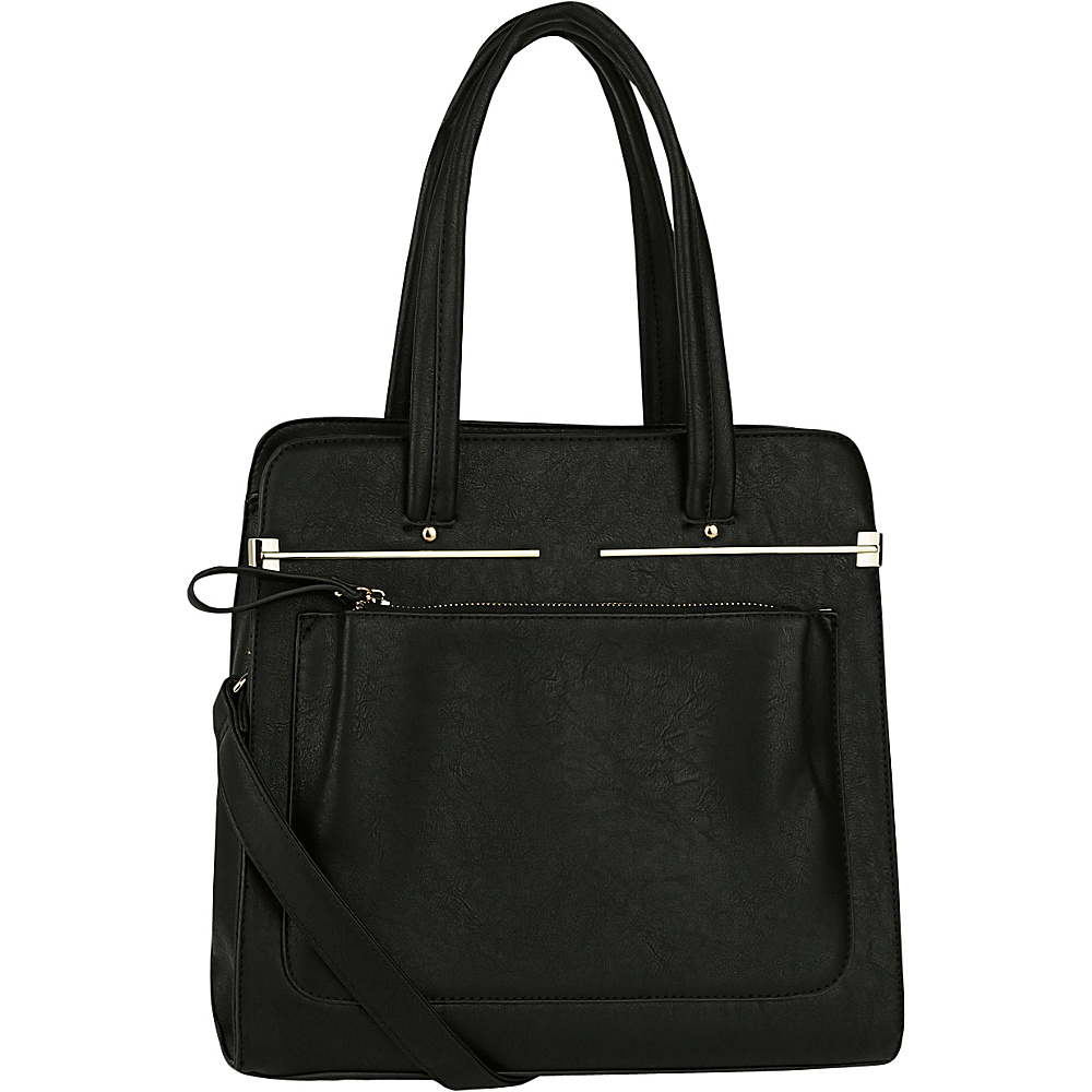MKF Collection by Mia K. Farrow Flossie Satchel Black - MKF Collection by Mia K. Farrow Manmade Handbags - Handbags, Manmade Handbags