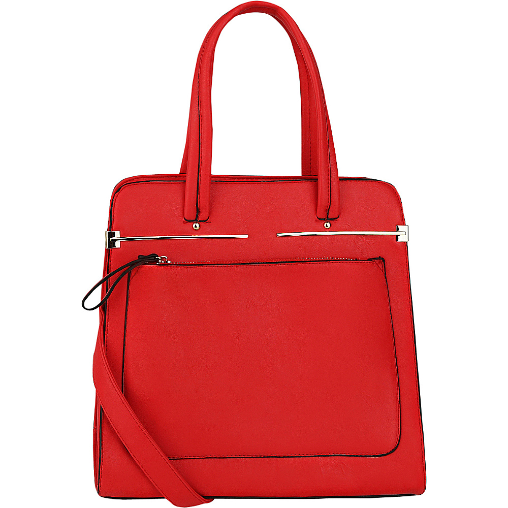 MKF Collection by Mia K. Farrow Flossie Satchel Coral - MKF Collection by Mia K. Farrow Manmade Handbags - Handbags, Manmade Handbags