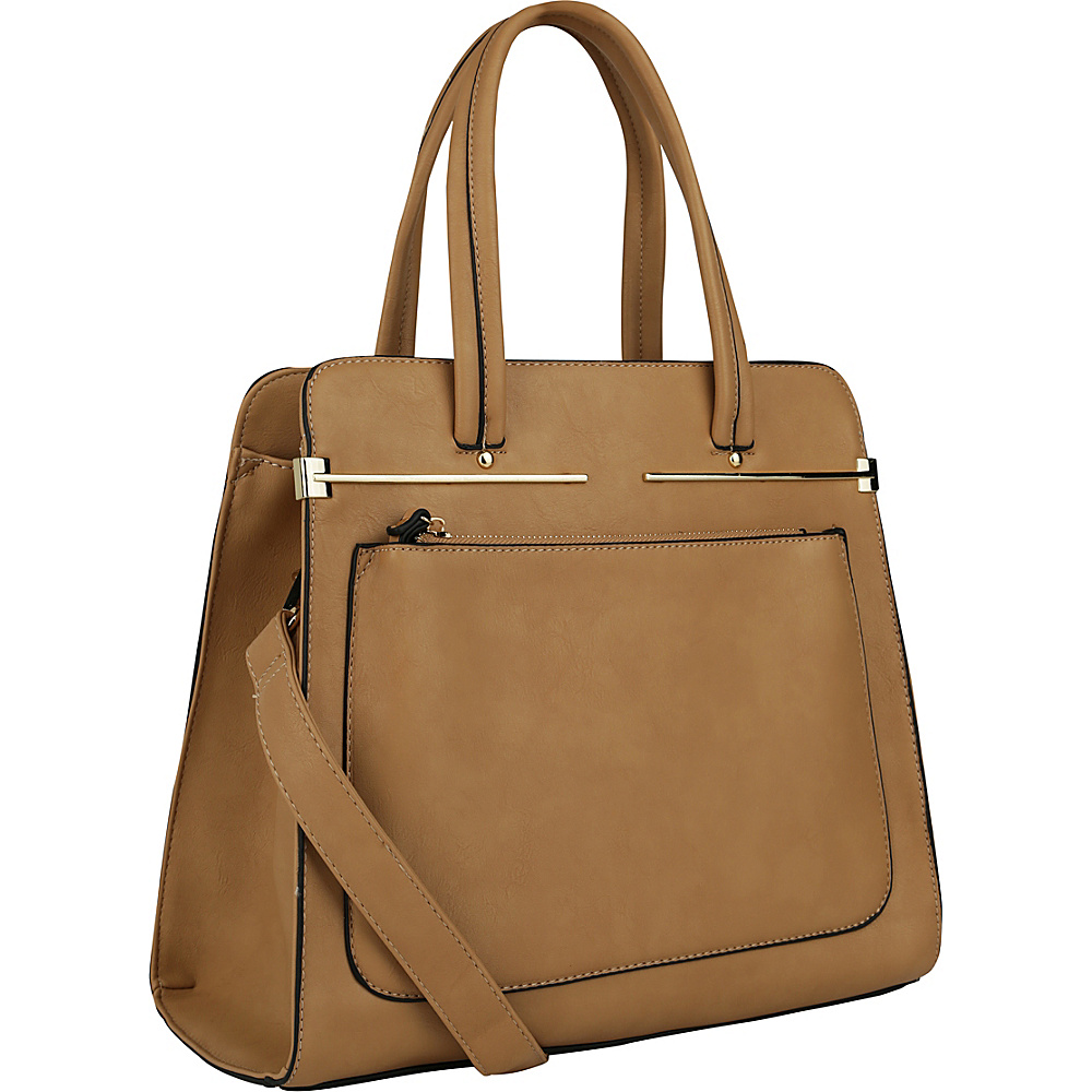 MKF Collection by Mia K. Farrow Flossie Satchel Taupe - MKF Collection by Mia K. Farrow Manmade Handbags - Handbags, Manmade Handbags