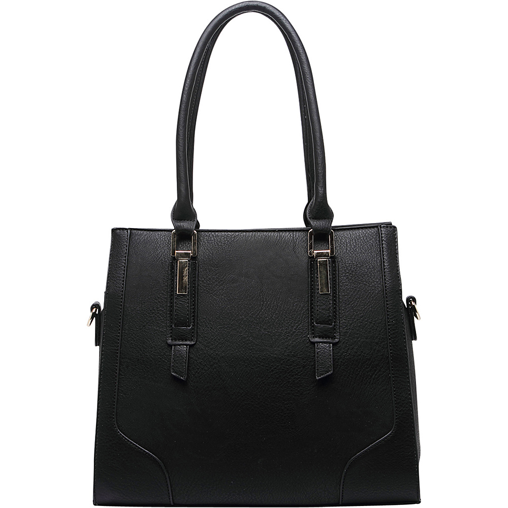 MKF Collection by Mia K. Farrow Manhattan Satchel Black - MKF Collection by Mia K. Farrow Manmade Handbags - Handbags, Manmade Handbags